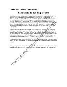 Leadership Training Case Studies
