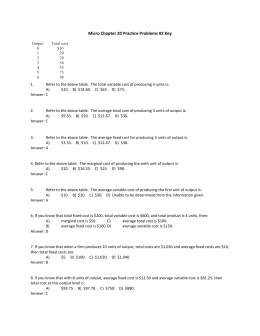 Micro Chapter 20 Practice Problems 2 Key