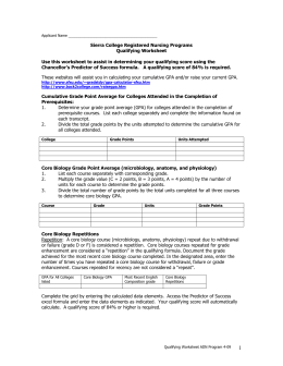 RN Qualifying Worksheet
