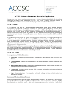 ACCSC Distance Education Specialist Application