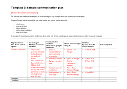 Communication Strategy Template