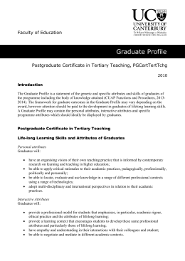 Tertiary Teaching