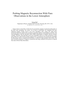 Probing Magnetic Reconnection With Flare Observations in the