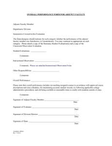 Faculty: Instructional Observation Form for Classroom & ESL