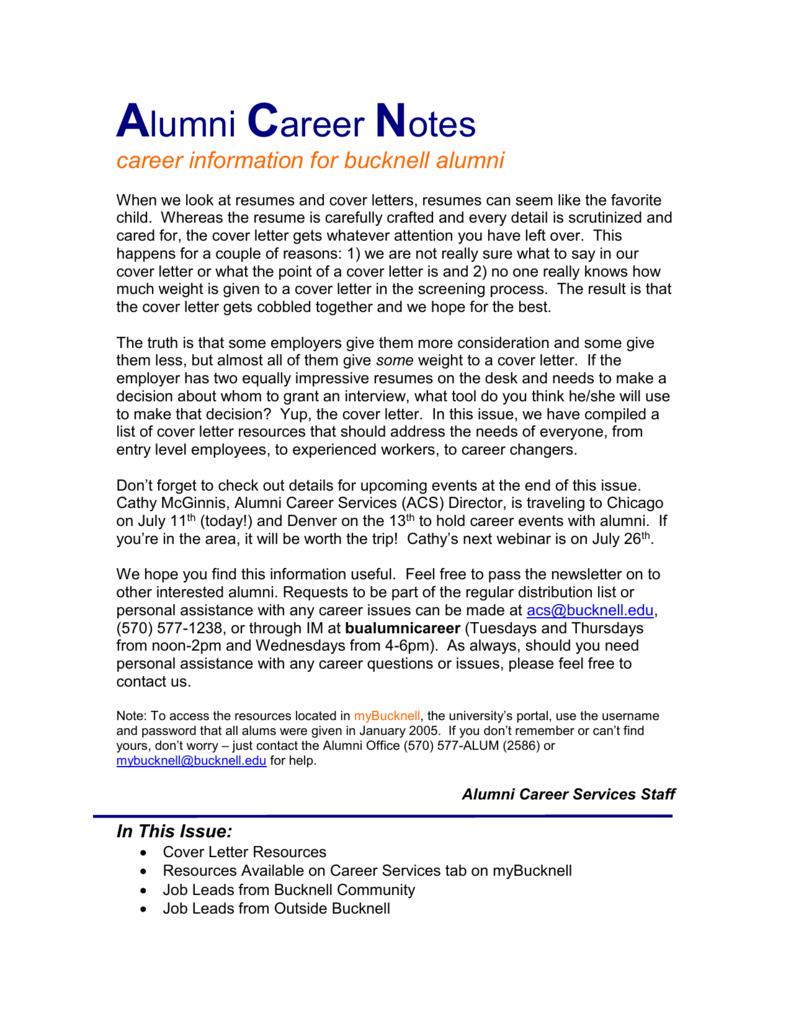 Alumni Career Notes - Bucknell University