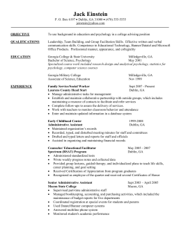 Alumni Career Changer Resume