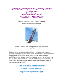 Lern 61: Orientation to Career Success – Spring 2009