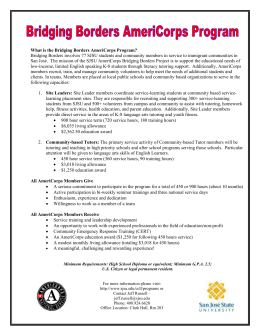 AmeriCorps Members Receive
