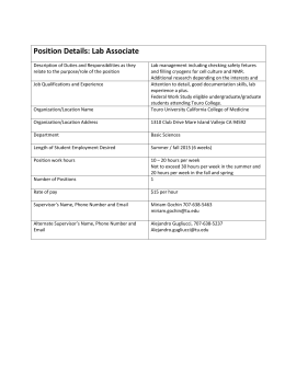 Basic Science Lab Associate for Dr Gochin
