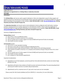 FORM 3501 FR.13 Application for Appointment as a Visiting Fellow