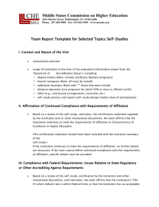 Selected Topics Self-Study - Middle States Commission on Higher