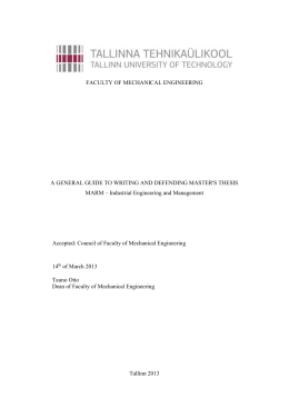 2. technical requirements for master`s thesis