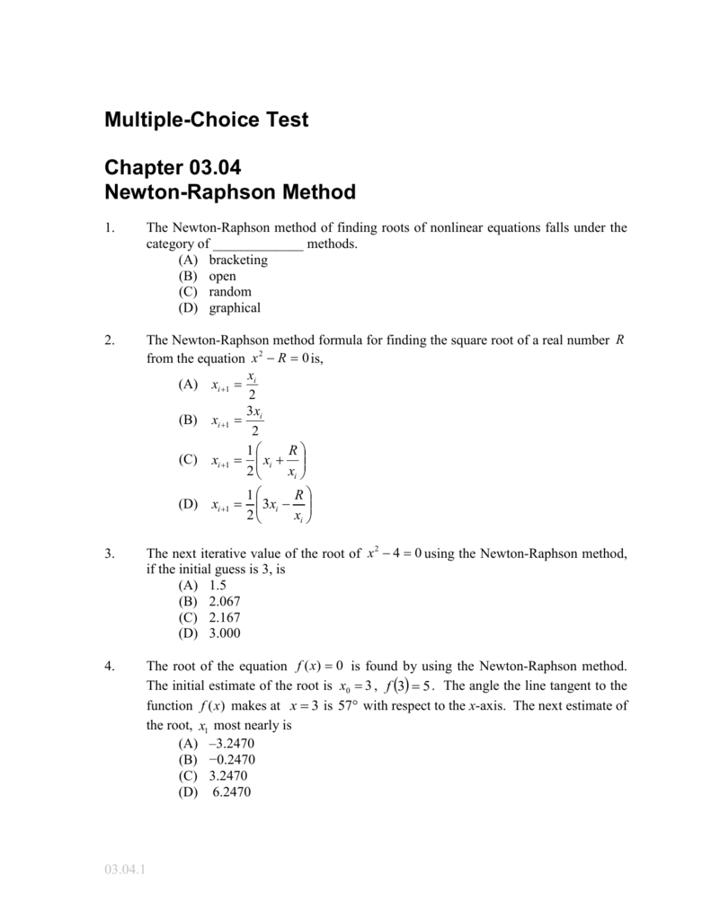 newton raphson method maths coursework