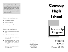 Brochure - Conway Area Career Center