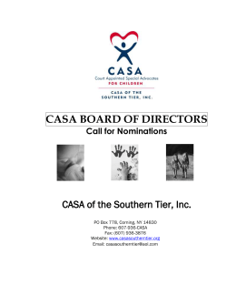 CASA BOARD OF DIRECTORS - CASA of the Southern Tier, Inc.