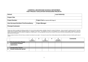 School Capital Projects Evaluation Form