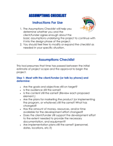 Assumptions Checklist [Word File]