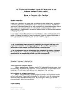 How to construct a budget