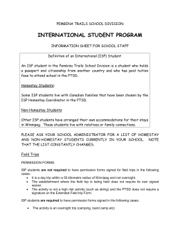 international student program - Pembina Trails School Division