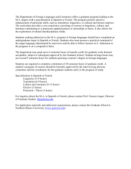 Graduate Program Information - Northern Illinois University