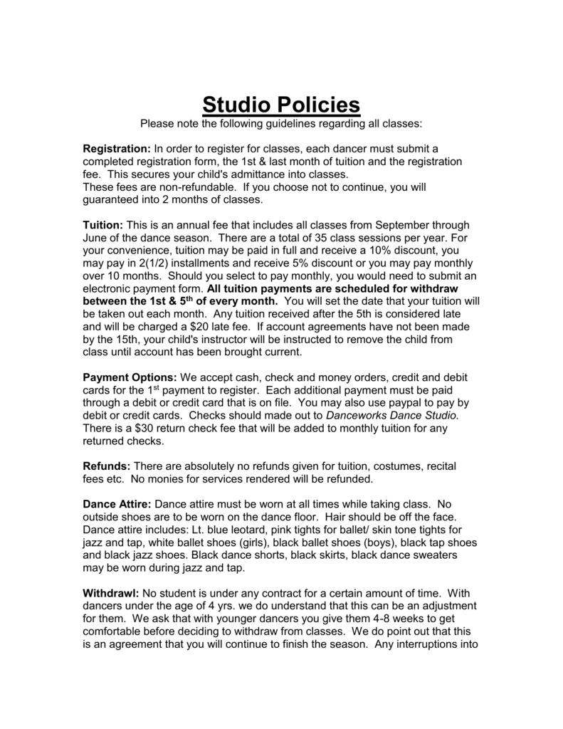 Classroom etiquette danceworks dance studio platinumwayz