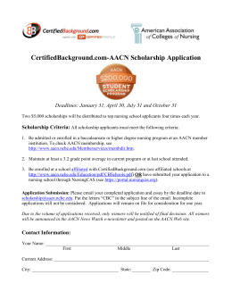 CampusRN/AACN Nursing Scholarship Fund Application