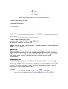 Registration Form - The Writing Well
