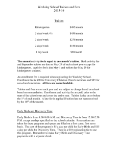2015-16 tuition and fees info sheet