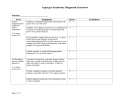 Asperger Syndrome Diagnostic Interview