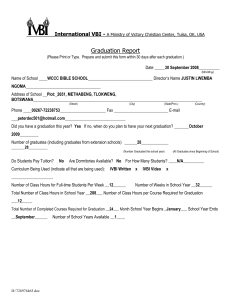 Graduation Report Form