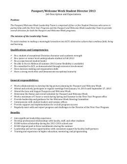 Student Director Application - Abilene Christian University