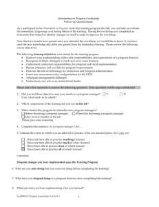 CS 61A Lecture Notes Week 1 Topic: Functional programming