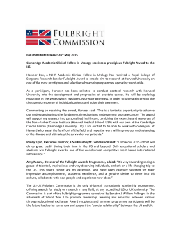 CATO Final Scholars Press Release