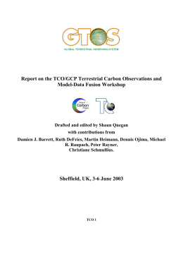 GTOS Information management in southern Africa