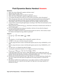 Fluid Dynamics Basics Handout Answers