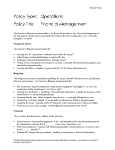 Sample Policy – Policy Governance Model