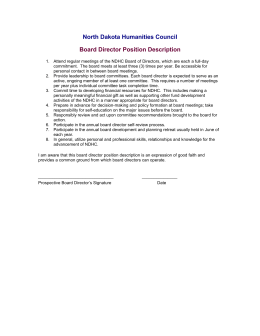 Board Director Position Description