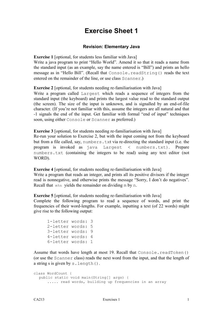 Exercise Sheet 1