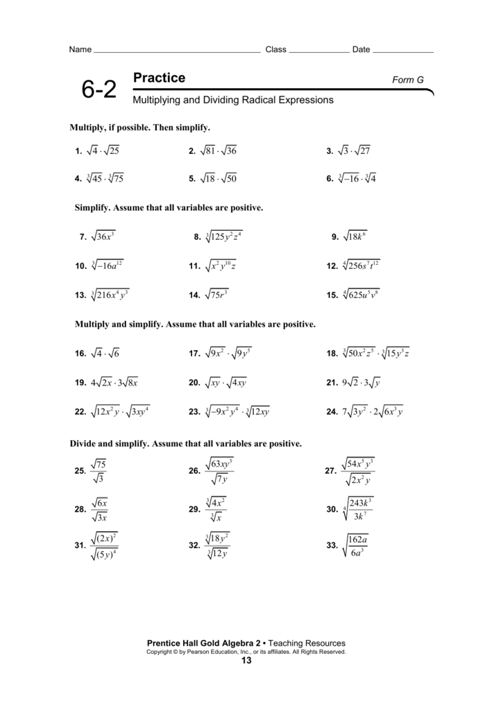 Multiplying And Dividing Radical Expressions Worksheet Delibertad – Multiplying and Dividing Radicals Worksheet