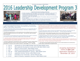 Leadership Development Program Flyer