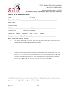 UDM Student Alumni Board Membership Application