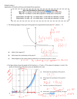 IB Math Studies 2 Applications of Growth and Decay and Sample IB