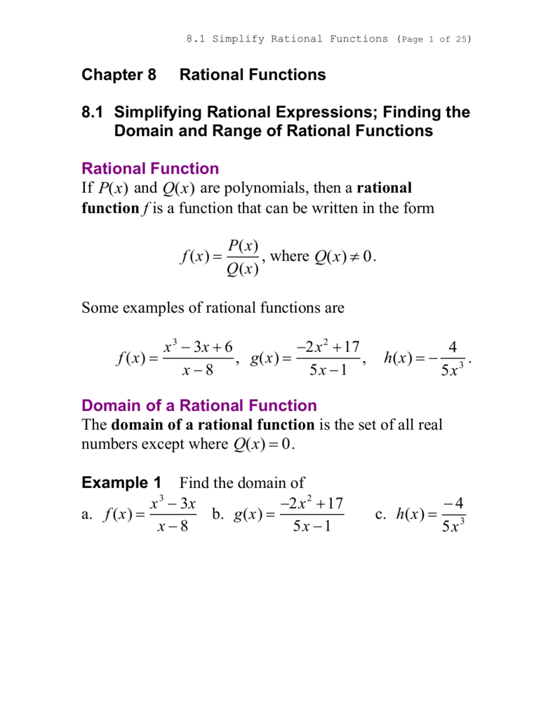 Domain And Range Graphing Rational Functions Playlist And Teaching Notes How  To Find