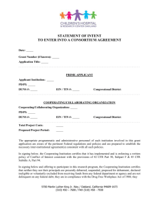 Statement of Intent to Enter into Consortium Form