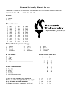 Alumni Survey Word Document