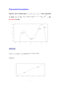 3.1 Polynomial interpolation