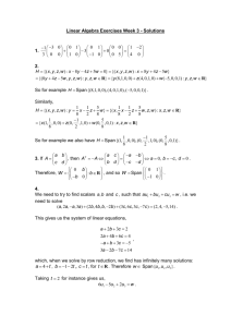 Linear Algebra Exercise Sheet 1 Solutions