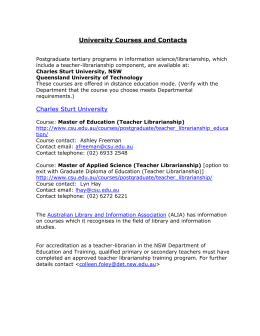 University courses and contacts