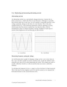 Monitoring and measuring alternating current