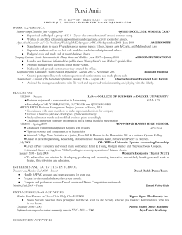 Resume Wizard - Drexel University